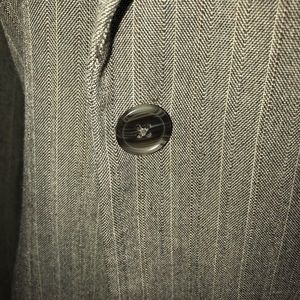 Jackets & Coats - Brown Pinstripe Blazer